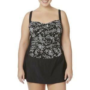 Tropical Escape Womens Plus Swim Dress 18W 22W MEW